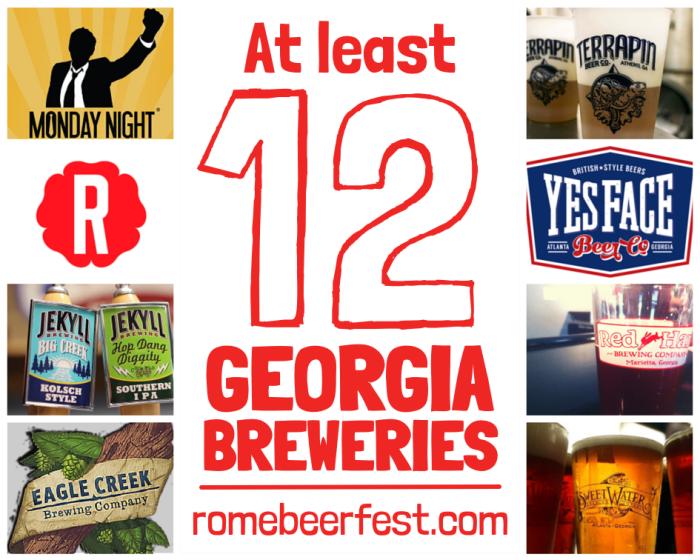 Georgia Breweries at Rome Beer Fest